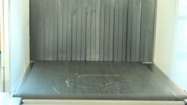 X-Ray Inspection System. Luggage at the airport — Stock Video