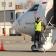 Maintenance of aircraft at the airport. — Vidéo