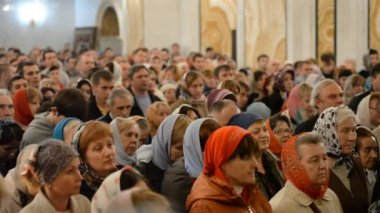 Russian Orthodox Church, Easter. Easter service. — Video Stock