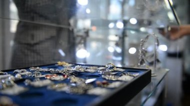 Shopping in Jewellery Store — Vídeo Stock