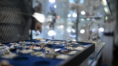 Shopping in Jewellery Store — 图库视频影像