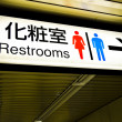 Restrooms board — Stock Photo #41213071
