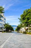 Slope road in Hakodate Japan — Stock Photo