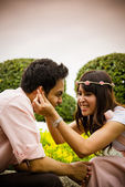 Couple tease in the garden2 — Stock Photo