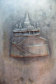 Temple drawing on Bell — Stockfoto