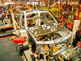 Línea de montaje de coche para hacer cuerpo cab3 — Foto de Stock