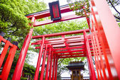 Small shrine with red Torii in Japanese style2 — Stock Photo