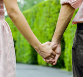 Hold hands of the couple1 — Stock Photo