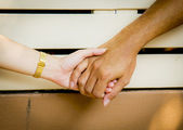 Sweet couple hold the hands2 — Stock Photo