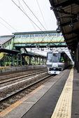 Treno è nella track5 — Foto Stock