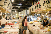 Walking in Tsukiji fish market Japan3 — Stock fotografie