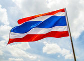 Thailand flag with cloudy sky1 — Foto de Stock