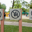Stock Photo: Prohibit sign in public park