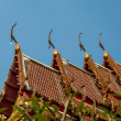 Gable apex on roof Temple in Thai style6 — Stock Photo