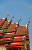 Gable apex on roof Temple in Thai style3 — Стоковое фото