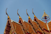 Gable apex on roof Temple in Thai style1 — Стоковое фото