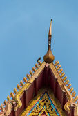 Gable apex on roof Temple in Thai style7 — Stock Photo