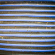 Stock Photo: Blue strip ceramic wall pattern1