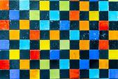 Colorful patch ceramic wall1 — Zdjęcie stockowe