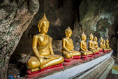 Roll of Buddha statue in the cave5 — Stock Photo