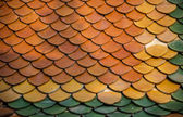 Ceramic roof pattern for Thai temple — Stock Photo