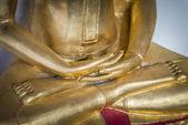 Hand of Golden Buddha statue2 — Stock Photo