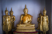 Group of Golden Buddha statue are in the Thai Temple2 — Stock Photo