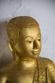 Face of Golden Buddha statue1 — Stock Photo
