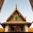 Stock Photo: Wooden Tympanum of Thai Temple2