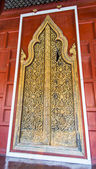 Wooden carving door for Thai temple3 — 图库照片