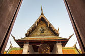 Wooden Tympanum of Thai Temple2 — Stock Photo