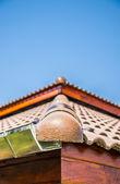 A corner of Ceramic roof — Stock Photo