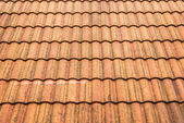 Brown Ceramic roof pattern — Stock Photo