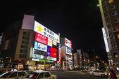 SAPPORO, JAPAN - JULY 24 Susukino shopping street on July 24, 20 — Stock Photo