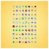 80 colour pictograms — Vecteur