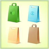 Herbruikbare zakken — Stockvector