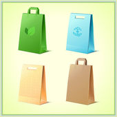 Yeniden kullanılabilir çantalar — Stok Vektör