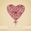Royalty-Free Stock Imagem Vetorial: Valentine card in retro style