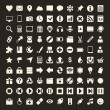 100 Universal Outline Icons For Web and Mobile — Stock Vector #32537447