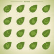 Eco icons, eco pictogram — Image vectorielle
