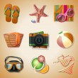 Summer icon set — Stock Vector