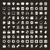100 ícones universais de contorno para a web e dispositivos móveis — Vetorial Stock