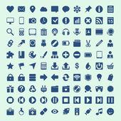 100 ícones universais de contorno para a web e dispositivos móveis — Vetor de Stock