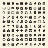100 Universal Outline Icons For Web and Mobile — Vettoriale Stock
