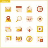 Technological vector color icons — Stock Vector