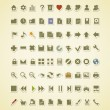 Technology icons. 80 vector icons set — Vettoriali Stock