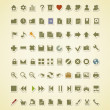 Technology icons. 80 vector icons set — Stockvektor