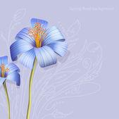 Fond de fleurs de printemps — Vecteur