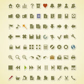 Technology icons. 80 vector icons set — Stock Vector