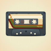 Vector audio cassette tape in retro stijl — Stockvector